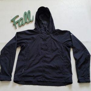 COLUMBIA black lightweight hoodie jacket